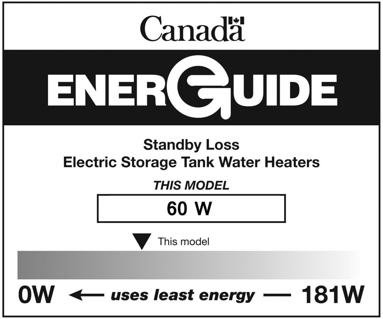 Storage tank water heatersenerguide natural resources canada energuide label for an electric storage tank water heater biocorpaavc