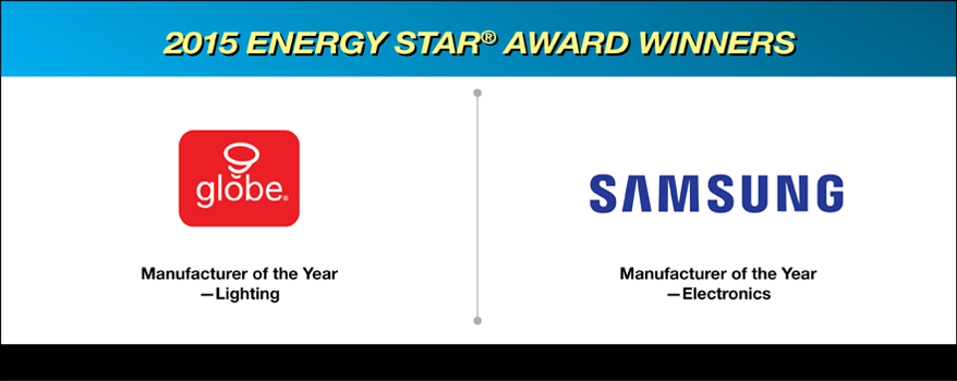 2015 ENERGY STAR award winners - Globe Electric and Samsung Electronics Canada