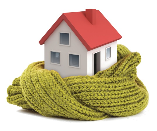 A house wrapped in a scarf