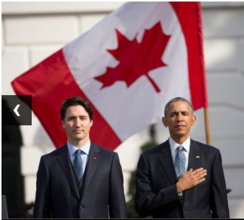 Prime Minister Justin Trudeau's first state visit with U.S. President Barack Obama in March, 2016.