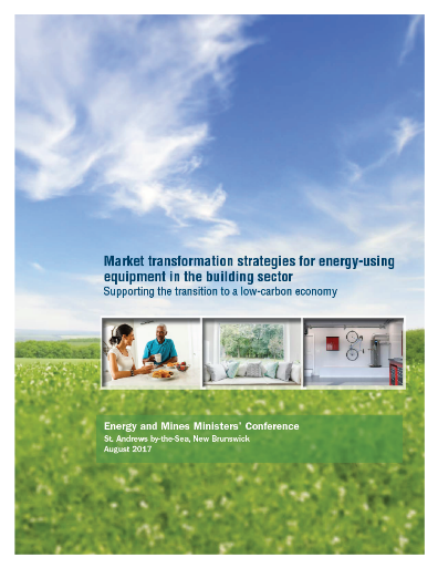 Cover of publication: Market transformation strategies for energy-using equipment in the building sector: Supporting the transition to a low-carbon economy