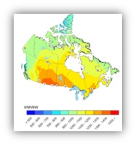 Canadian Solar and Photovoltaic Maps and High-Resolution Solar Radiation Time Series Dataset