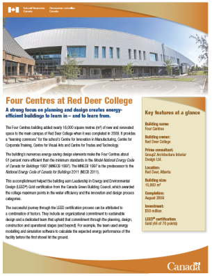 Image of the Four Centres at Red Deer College Case Study