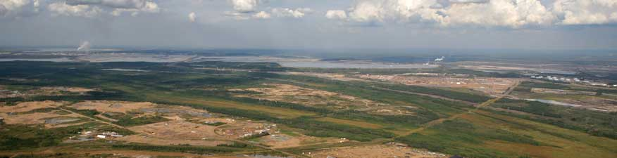 Oil sands operation beside Athabasca River