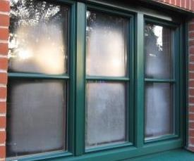 Example of early morning exterior condensation