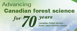 Advancing Canadian forest science for 70 years. (Poster)