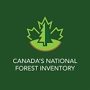 Image showing a map of Canada superimposed by the text: NFI, Canada's National Forest Inventory.