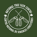"Image showing tree seeds surrounded by the text: ""National Tree Seed Centre"" on top and the text ""Centre national de semences forestières"" underneath."