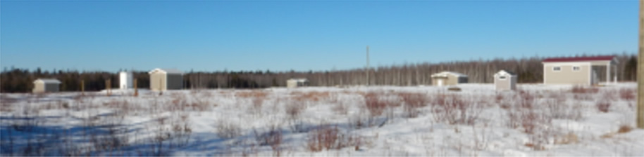 A winter time photo of the National Magnetic Calibration Facility.