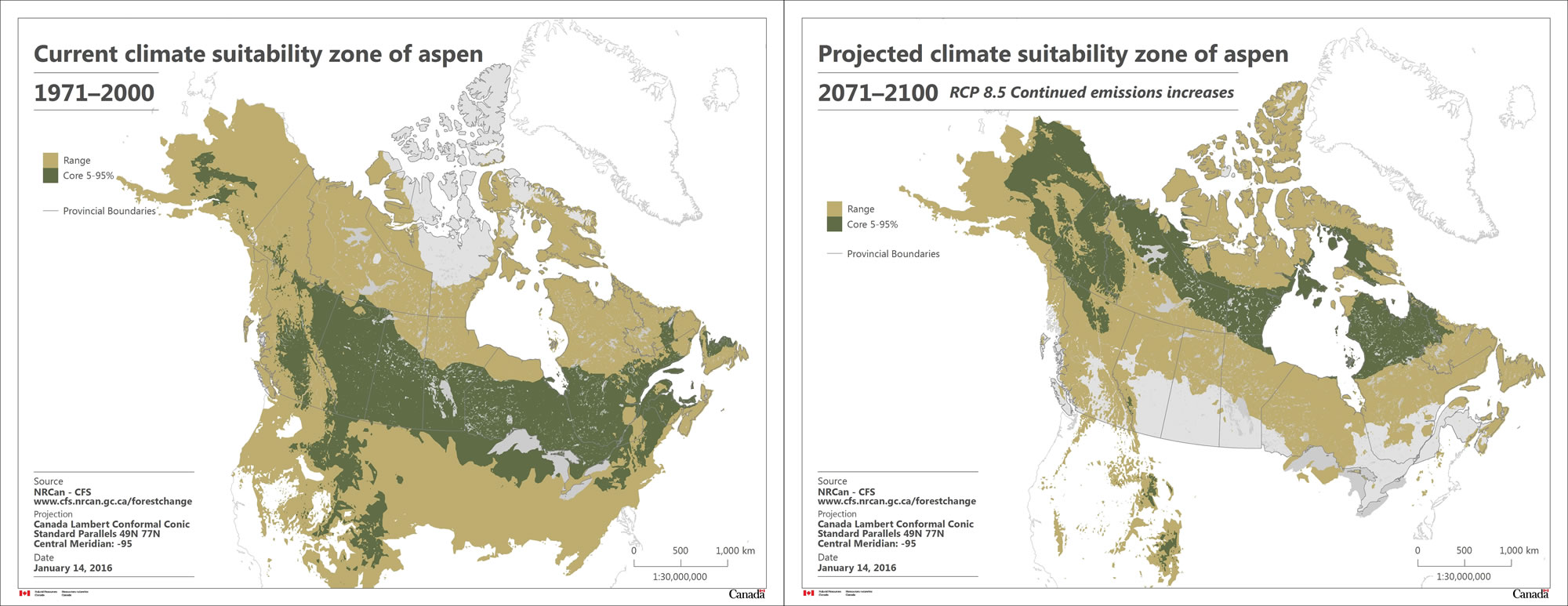 Map Of Canada Climate Zones.Distribution Of Tree Species Natural Resources Canada
