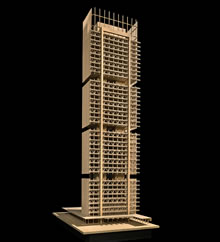 Design concept of a tall wood building