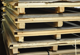 Hardwood used in pallets