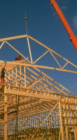 Wood trusses made from MSR lumber