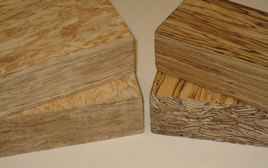 Oriented strand lumber products