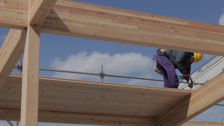 Video describing the benefits of using wood in building construction (2 minutes, 7 seconds)