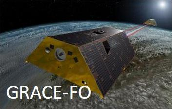 Figure 2: The four satellite gravimetry missions: CHAMP (DLR), GRACE (NASA/DLR), GOCE (ESA) and GRACE Follow-On (NASA/GFZ).