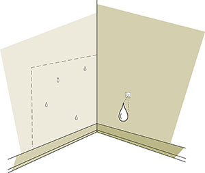 Figure 2-4 Moisture entry from holes in the building envelope