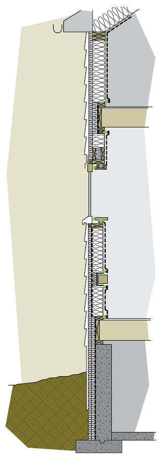 Figure 7-12 Exterior wall cross-section
