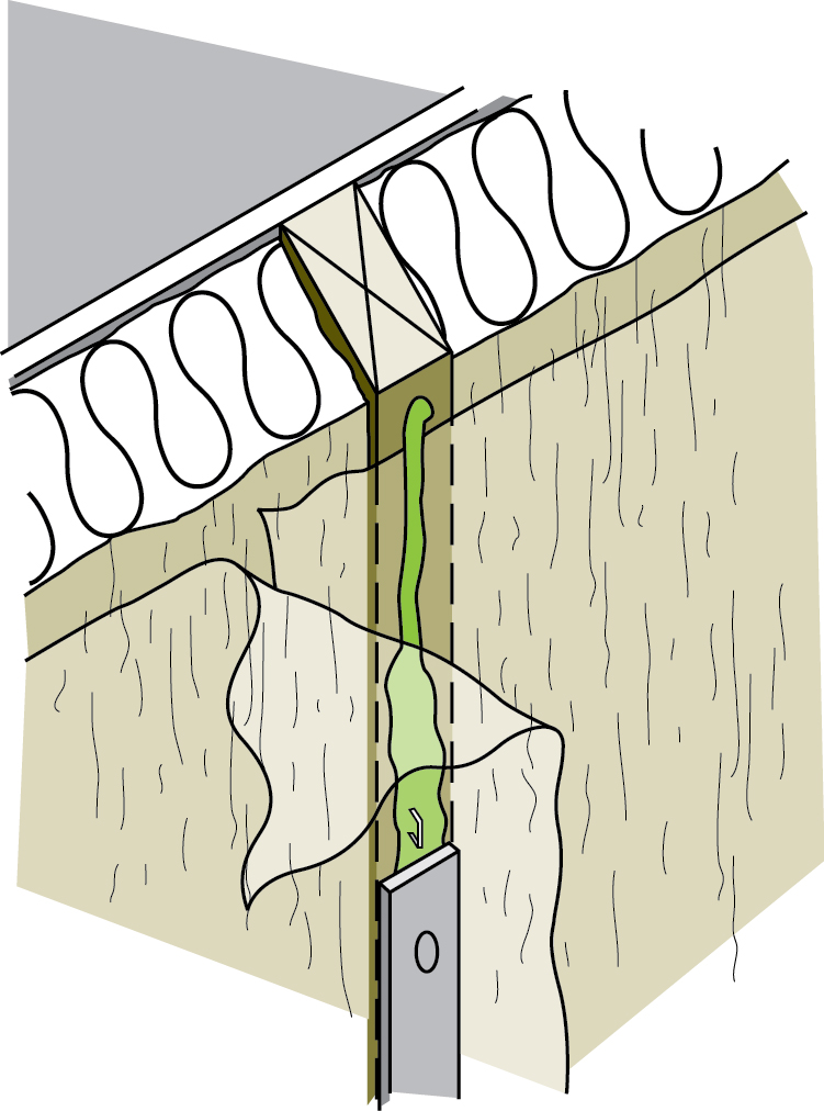 Figure 4-3 Sealing air and vapour barrier seams