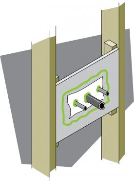 Figure 6-16 Sealed plumbing penetrations