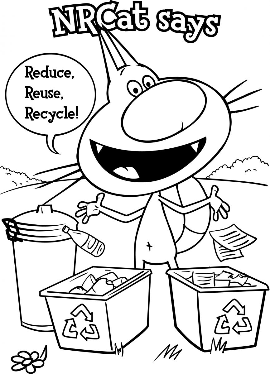recycling coloring pag pic source - Recycling Coloring Pages Kids