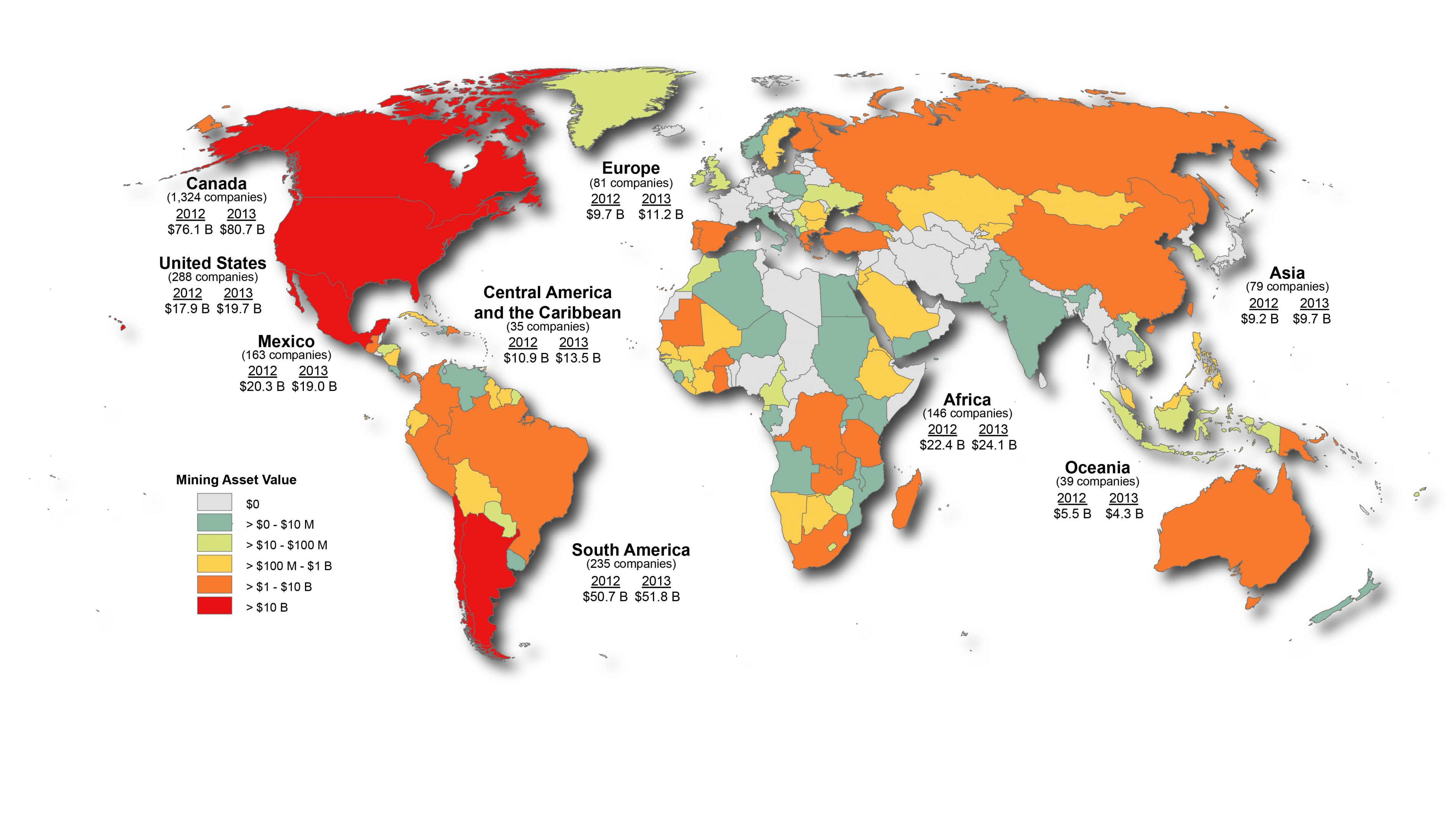 Canadian Mining Assets Natural Resources Canada - Argentina map natural resources