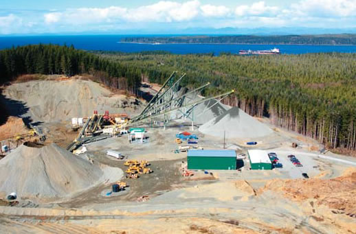 Photo of Orca Quarry near Port McNeill, British Columbia