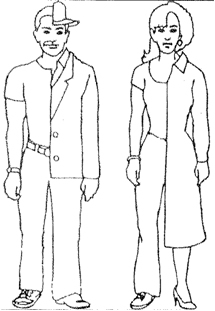 Picture of a man and woman in order to describe his/her physical appearance