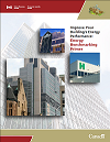 image of cover of energy benchmarking in the Canadian buildings sector PDF