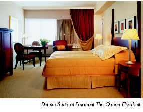 Deluxe Suite at Fairmont The Queen Elizabeth