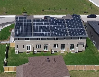 Image of the new home with solar panels