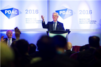 Photo of Minister Carr at the 2016 PDAC Convention