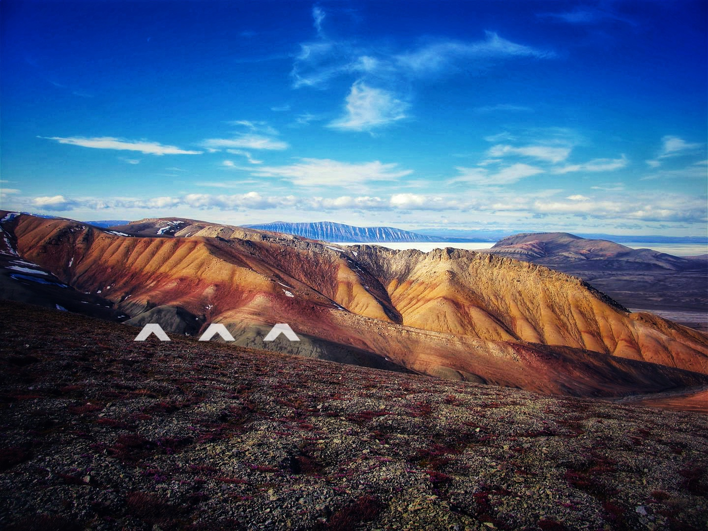 The change from green to red rock on northern Ellesmere Island marks the time when 90 percent of life was lost during the Permian Extinction. A large spike in mercury content was found here.