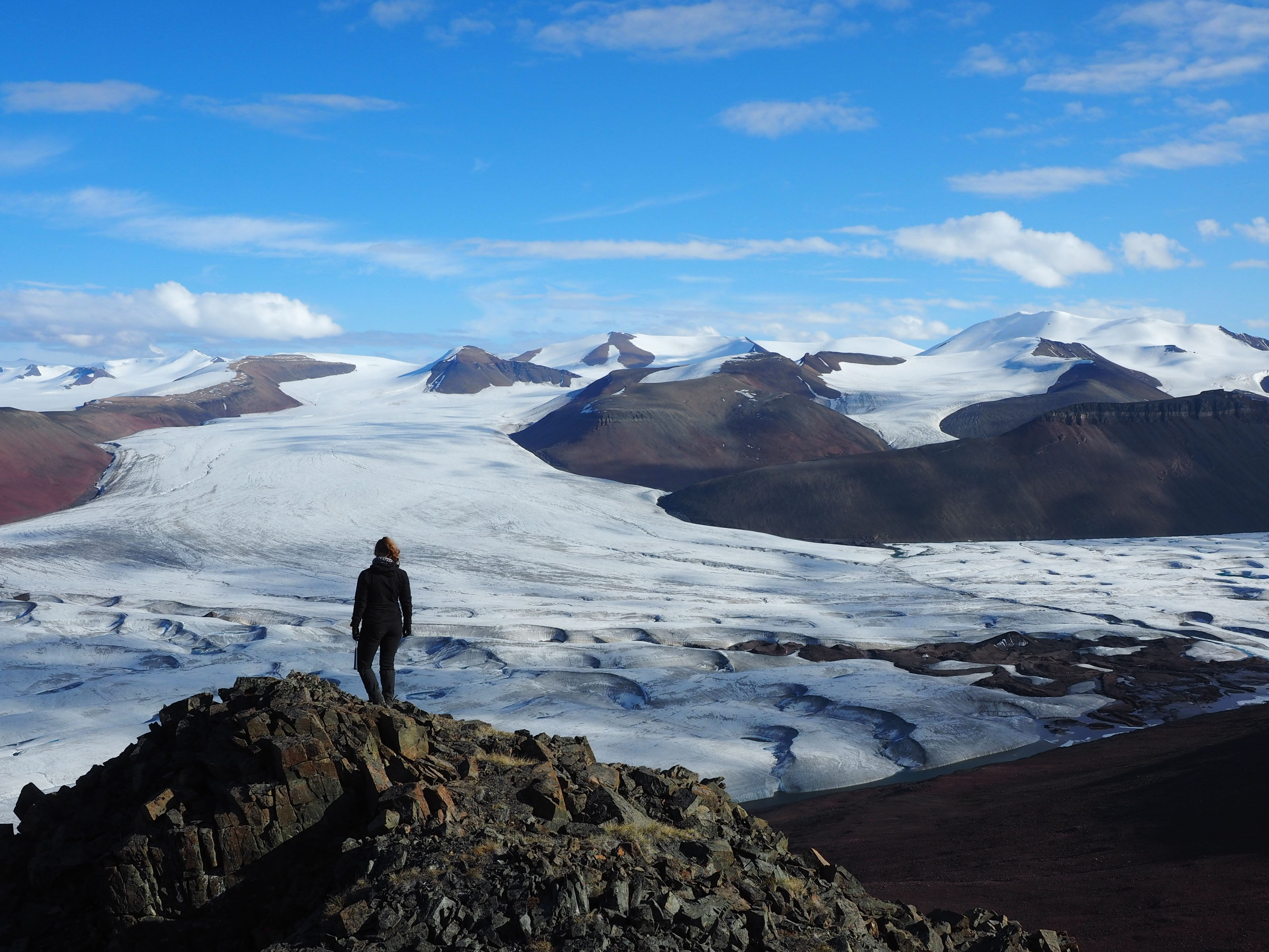 The team travelled as far as the north coast of Ellesmere Island to collect rock samples.