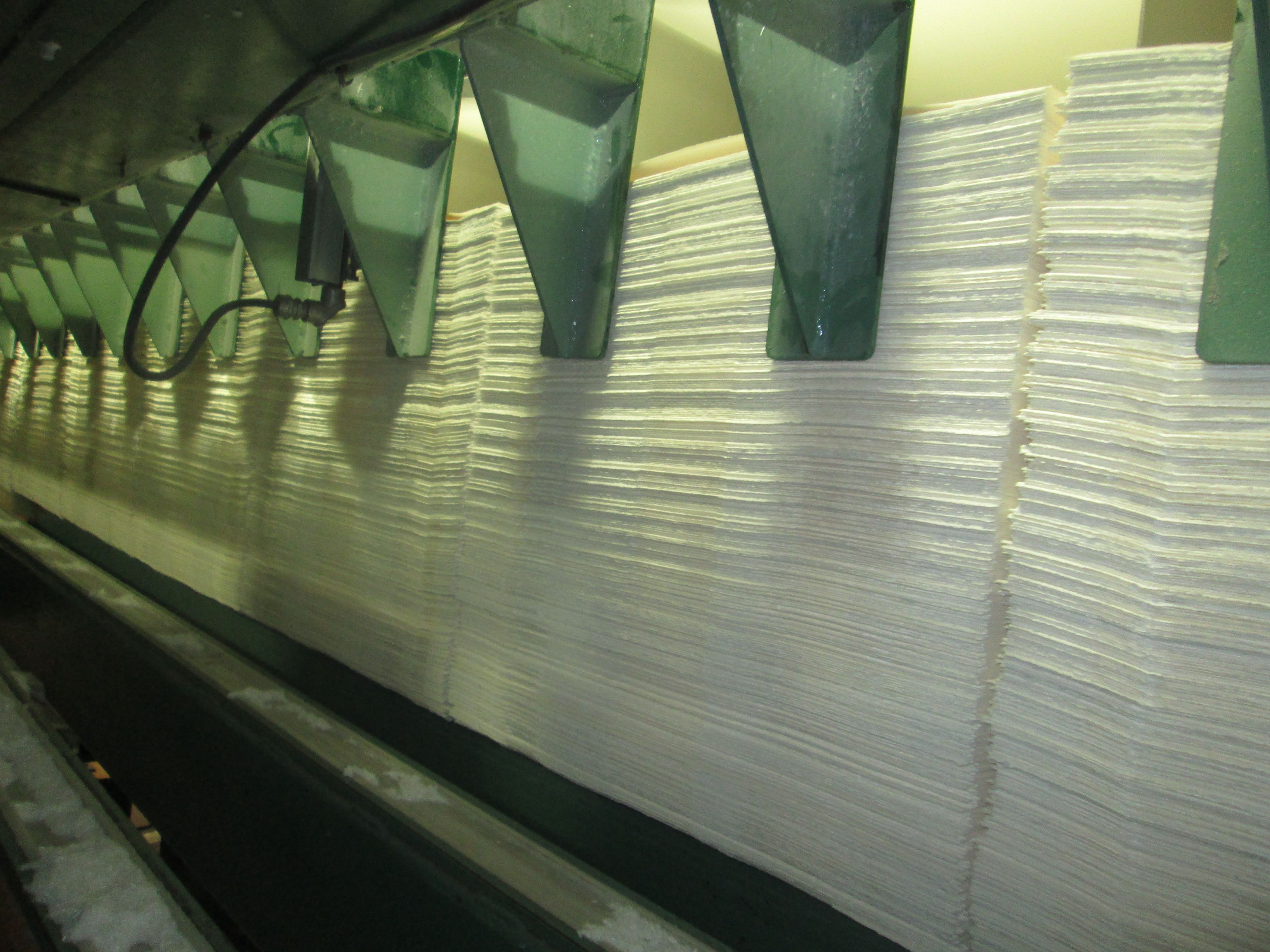 Image of sheets of dissolving pulp